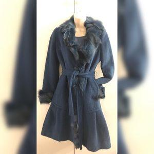 ❤️HP❤️ 🔥Stunning blue fur coat 💙